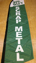 We Buy Scrap Metal Custom Feather Flag
