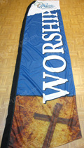 Worship Feather Flag