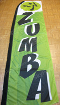 Zumba Custom Feather Flag