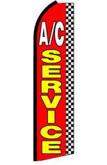 AC Service (Checkered) Feather Flag