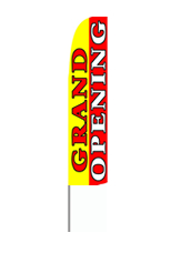 Grand Opening (Red/Yellow) Feather Flag