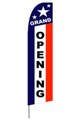 Grand Opening Star Spangled Feather Flag