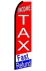 Income Tax Fast Refund Feather Flag