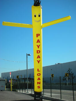 Payday Loans SkyPuppet - Yellow (Single-Sided) - 20 Ft.
