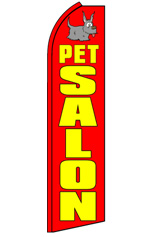 PET SALON Feather Flag