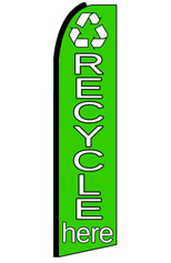 Recycle Here (Icon) Feather Flag