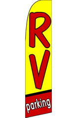 RV PARKING (Yellow) Feather Flag