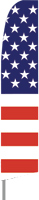 Stars and Bars USA Feather Flag