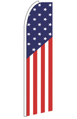 USA Flag Pattern Feather Flag